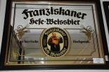 Franziskaner Werbespiegel, Barspiegel, Spiegel in Holzrahmen, 71,5cm x 51,5cm