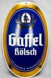 Gaffel Kölsch Bier, Emaile Schild, Werbeschild, gewölbt