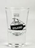 Helbing Kümmel Glas / Gläser, Stamper, Shotglas, 2cl Eichstrich Schiff