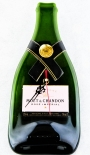 Moet Chandon Champagner Rose, Wanduhr, Uhr aus Flasche, Glas, grün