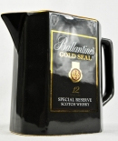 Ballantines Whisky, Pitcher, Krug, Krüge, Porzellan, Dunkelgrau