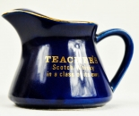 Teachers Whisky, Pitcher, Wasser Karaffe, blau, kleine Ausführung