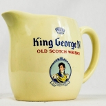 King George IX Scotch Whisky Pitcher, Wasser Karaffe, beige