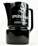 Springbank Scotch Whisky Pitcher, Wasser Karaffe, schwarz