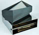 Marlboro Tabac, Design Stand Aschenbecher, Vollmetall, Edelstahl, anthrazit
