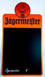Jägermeister Likör, XXL Kreidetafel, Werbeschild, orange