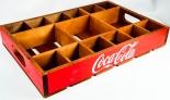 Coca Cola, Echtholz Tablett, Partybox, Echtholz Kiste, Vintage Ausführung