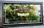 Jack Daniels Werbespiegel, Spiegel, Barspiegel, in Holzrahmen (groß) Old Time