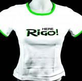 Bacardi Rum T-Shirt Women, weiß, Gr. S mit Rund-Ausschnitt Rigo