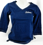 Ballantines Whisky, T-Shirt Women, blau, Gr. M, V-Ausschnitt,Ballantines
