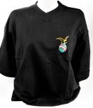 Fernet Branca, T-Shirt Women, schwarz, Gr. L, V-Ausschnitt,Branca Menta