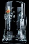 Carlsberg Bier, Markenglas, Bierkrug, Bierseidel, Bierglas 0,5l Emblem weiß