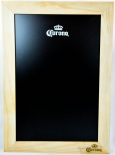 Corona Extra, XXL Echtholz Kreidetafel, Schreibtafel, schwarz/beige Ausführung
