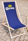 Corona Extra, Buchenholz Liegestuhl, dunkeblaue Ausführung CORONA