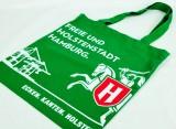 Holsten Pilsener, Jutebeutel, Tragetasche, grün Freie und Holstenstadt Hamburg
