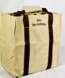Radeberger Bier, Jute Flaschenträger, Flaschentasche, 6er Träger, faltbar