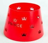Prince Denmark, Tabak, Metall Windlicht Kronenstreuung rote Ausführung