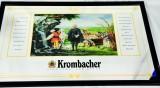Krombacher Bier, Werbespiegel in Kunststoffrahmen schwarz Graf Judisch der 3.