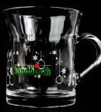 Klindworth, Weihnachts Glühweinbecher Glas mit Henkel, große Ausführung
