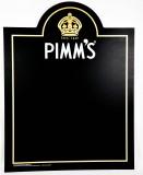 Pimms Gin, XXL Echtholz Kreidetafel, Schreibtafel