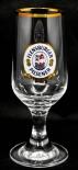 Flensburger Pilsener Glas / Gläser, Bierglas, Pokal Goldrand 0,2l Rastal