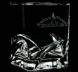 Johnnie Walker, Whiskey, Tumblerglas, Reliefglas Established 1820 selten..
