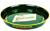 Wernesgrüner Pilsener, Metall Tablett, Serviertablett, Rundtablett, gummiert.