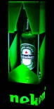 Heineken Bier LED Leuchtreklame, Flaschenleuchte.