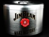 Jim Beam Whisky, Edelstahl, Eiswürfelbehälter, Flaschenkühler 10l, 3 teilig