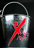 Mixery Bier, Eiswürfeleimer, Flaschenkühler, Eiswürfelbehälter, vernickelt