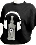 Jack Daniels, Whisky, T-Shirt Rocks Earphone full logo No7 , Gr. L