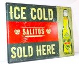 Salitos, Bier, Werbeschild, Blechschild ICE COLD-SOLD HERE