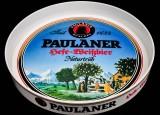 Paulaner Weißbier, Serviertablett, Rundtablett, weiße Ausführung