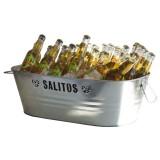 Salitos Bier, Flaschenkühler, Eiswürfelbehälter, Eiswürfelwanne in Vollmetall