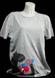 Fritz Cola, Mischmasch, T-Shirt, Werbeshirt, Logo vorne grau  Mischmasch Monster Women gr. L