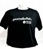Fritz Cola, T-Shirt, Werbeshirt Gormet Koffein Logo vorne schwarze Ausführung Women Gr. L