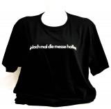 Fritz Cola, T-Shirt, Werbeshirt Einfach mal die Messe halten Logo hinten schwarze Ausführung Gr. XL