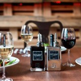 Scavi & Ray, Menagen Echtglas Essig und Öl Spender, Flaschenset Olio e Aceto