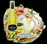 Strongbow Cider, Blechschild, Werbeschild A Fresh Remix of Apple over Ice