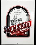 Duckstein Bier, Werbeschild, Emaile-Schild, Reklameschild sehr hochwertiges