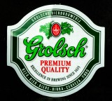 Grolsch Bier, Werbeschild, Schild, Kunststoff Oberseite