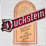 Duckstein Bier Aufkleber / Sticker, Folie (Original) 65x65cm