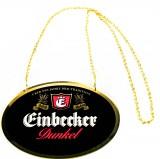 Einbecker Dunkel Bier, Zapfhahnschild aus Kunststoff, schwarze Ausführung