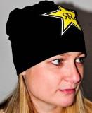 Rockstar Energy, Beanie Mütze, Logodruck gelb Bossi, schwarz