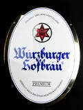Würzburger Hofbräu, Premium, Blechschild, gewölbt, weiss