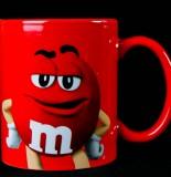 M&M Schokolade, Kaffebecher, Kakaobecher, rot