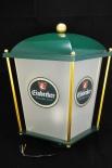 Einbecker Bier Standlaterne, Laterne, Leuchte Grün Messing