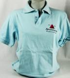 Apollinaris Wasser, Polo Shirt, hellblau, bedruckt, Gr. XL