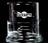 Martini, Wermut Tumblerglas, Relief-Schwung Logo Weiss sehr selten...