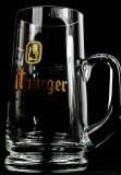 Bitburger, Bier, Bierglas, Exclusive Seidel, Bierkrug 0,4l, sehr altes Glas